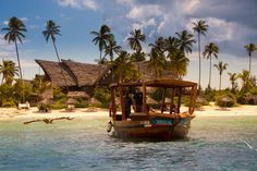 Chuini Zanzibar Beach Lodge is an intimate, boutique hotel, where guests are pampered on a personal level along a perfectly sprawling beach. Zanzibar Beaches, Stone Town, African Safari, Beach Hotels, Ocean Beach, Pergola, Outdoor Structures, Adventure, Lodges