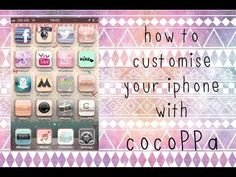 How to customise your iPhone 4/4s/5 WITHOUT jailbreaking / CocoPPa app tutorial (Step-by-Step) ♡ - YouTube