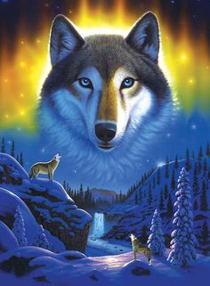Wolf Snow Mountain Art Print by MGL Meiklejohn Graphics Licensing. All prints are professionally printed, packaged, and shipped within 3 - 4 business days. Choose from multiple sizes and hundreds of frame and mat options. Wolf Images, Wolf Pictures, Snow Mountain, Mountain Art, Beautiful Wolves, Animals Beautiful, Wolf Eyes, Wolf Painting, Painting Snow