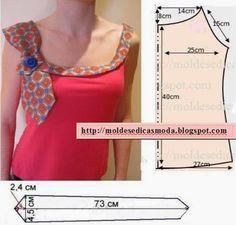 Moda e Dicas de Costura: BLUSA FÁCIL DE FAZER COM MEDIDAS