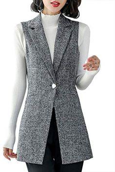Blazer Vest, Long Blazer, Casual Blazer, Blazer Outfits, Vest Jacket, Sleeveless Blazer Outfit, Workwear Fashion, Fashion Capsule, Fashion Vest