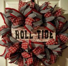 Alabama Wreath Roll Tide Wreath Alabama Crimson Tide