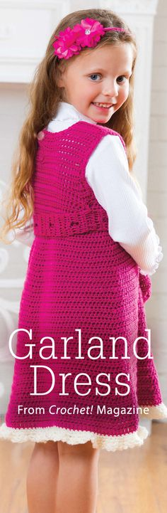 Garland Dress from the Winter 2014 issue of Crochet! Magazine. Order a digital copy here: http://www.anniescatalog.com/detail.html?code=AM22157