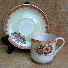 Small Cup and Saucer made in occupied Japan