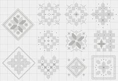 Freebie: If you like the look of Hardanger but don't like the idea of taking scissors to your work, why not practice with this set of non-cut mini designs from Mabel Figworthy's Fancies? Experiment with different Kloster block shapes and surface filling stitches, go wild with variegated threads, choose beads or French knots – have fun! http://www.mabelfigworthy.co.uk/index.php