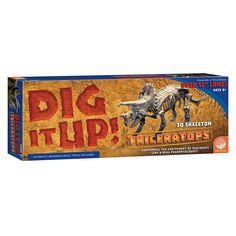 MindWare Dig It Up! 3D Skeleton Model: Triceratops, Multicolor