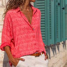 37451ac318 Fashion Long Sleeve Looose Floral Print Shirt