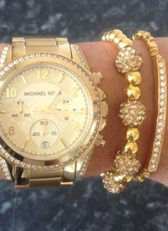 Michael kors arm candy, middle bracelet made by me