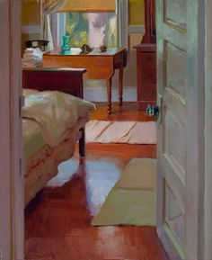 Guest Room by Lea Wight Oil ~ 24 x 18