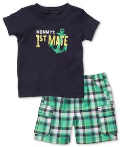 Carter's Baby Set, Baby Boys Two-Piece Tee and Shorts - Kids - Macy's