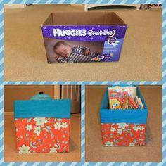Covered diaper box in fabric
