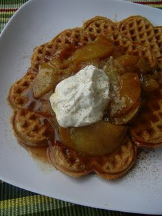 Cinnamon Waffles and Caramelized Apples