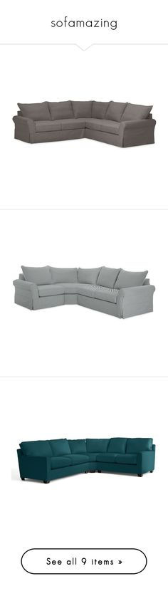 """""""sofamazing"""" by jamie-lea-wellik ❤ liked on Polyvore featuring home, furniture, sofas, anthracite, pottery barn furniture, modular couch, slipcover couch, slipcover loveseat, slip cover sofa and indigo"""