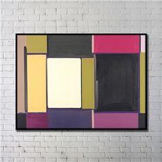 Leinwandbild Abstrakt Farbig Digitaldruck mit Schwarze Rahme-D