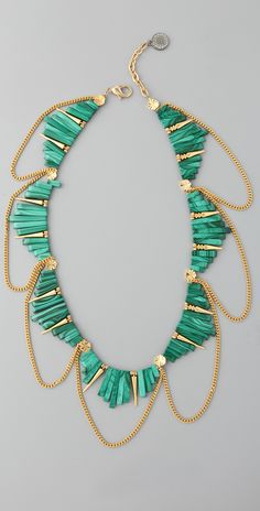 Gemma Redux Malachite Rectangles Necklace