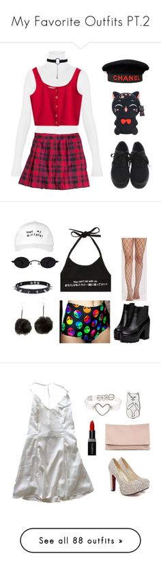 """""""My Favorite Outfits PT.2"""" by telletubbies ❤ liked on Polyvore featuring H&M, Chanel, O-Mighty, Pilot, Trend Cool, October's Very Own, Smashbox, Sole Society, RIPNDIP and Emory Park"""