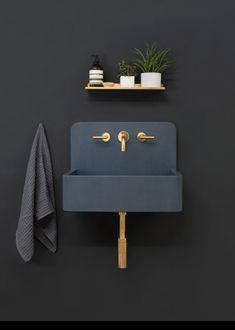 Kast Launches Collection of Patterned Concrete Basins Called Kast Canvas (Design Milk) - Gabriele Home - Home Design Jet Home Design, Chalet Design, Home Interior Design, Bath Design, Sink Design, Gray Interior, Contemporary Interior, Luxury Interior, Concrete Basin