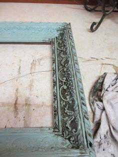 Picture frames--kinda shabby, kinda antique. DIY.