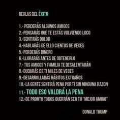 Reglas del Éxito de Donald Trump