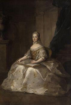 1764 Marie-Josèphe de Saxe, Dauphine de France by Maurice Quentin de la Tour after Anne Nivelon (Versailles)