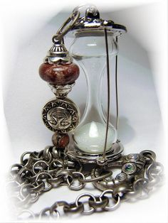 Time After Time Hour Glass Pendant Necklace -  design by ARTElemental