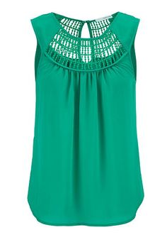 sleeveless top with crochet and keyhole back (original price, $29) available at #Maurices