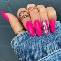 Nails with rhinestones Ideas nails pink art rhinestones - Ideen Nägel rosa Kunst Strass Simple Acrylic Nails, Pink Acrylic Nails, Blue Nails, Magenta Nails, Acrylic Art, Simple Nails, New Nail Art Design, Pink Nail Designs, Elegant Nail Designs