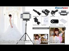 【Excelvan】Review Excelvan 680B LED Studio Video Light Touching Panel Adjustable 3200K-5600K - YouTube