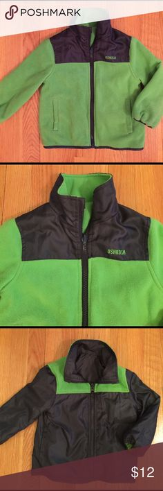 New Boy's Oshkosh Reversible Jacket 18 Months New, no tags. Boy's Oshkosh Reversible Jacket 18 Months. Color is Green and gray.  Polyester and Nylon. Osh Kosh Jackets & Coats