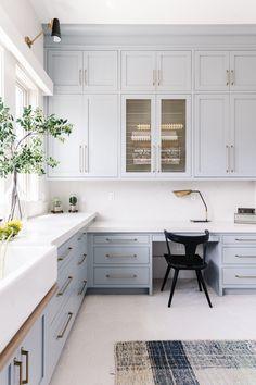 SDS71220070 Trending Paint Colors, Popular Paint Colors, Laundry Craft Rooms, Laundry Room Design, Cabinet Paint Colors, Kitchen Paint Colors, Paint Colours, Sofa Colors, Blue Cabinets