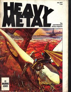 HEAVY METAL magazine July 1977 Adult by psychoactiveart on Etsy