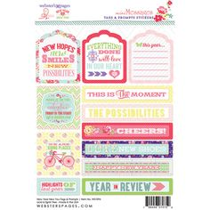 Webster's Pages Presents ~ New Year New You by Adrienne Looman ~ Tag & Prompt Stickers!!