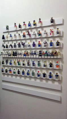 Any LEGO fan would love this decorative DIY LEGO minifigure display. Using simple materials and easy to follow construction steps you'll have your minifig collection organized and on display before you know it.