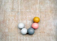 Handmade round beads Necklace. $32.00, via Etsy.