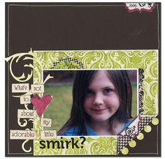 Little Smirk - Scrapbook.com - #scrapbooking #layouts