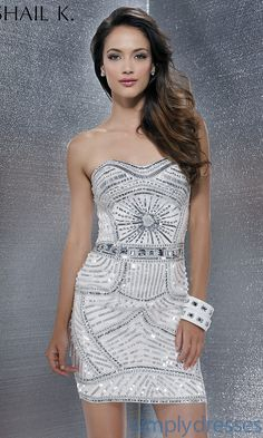 Dress, Strapless Sequin Covered Dress - Simply Dresses
