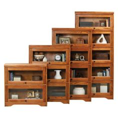 Eagle Furniture Oak Ridge Customizable 32 in. Wide Lawyer Bookcase - 9339