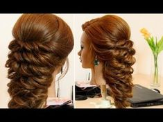 Braided Updo Hairstyle parikmaxer tv USA - YouTube