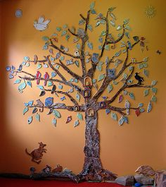 we have a similar tree in our sons room. Tree Wall Art, Tree Art, Mosaics For Kids, Legacy Projects, Collaborative Art Projects, Bodhi Tree, Mosaic Wall Art, Ceramics Projects, Mosaic Projects