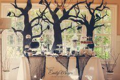 Lovely Halloween dessert table! #halloween #desserttable