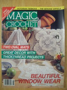 Magic Crochet magazine June 1992 Number 78 by Noahslady4Patterns, $4.25