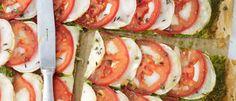 Pizza extrafina de queso de cabra con pesto, de Lorraine Pascale en LA COCINA FÁCIL DE LORRAINE PASCALE