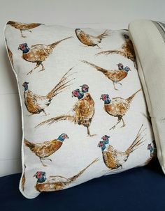 Rare Two-Headed Pheasant! 18inch cushion for client, can be recreated
