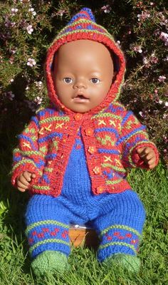 Bailey outfit and hoodie  PDF Knitting Pattern by MissMeggyDesigns, $5.95