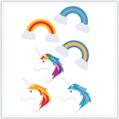 "Aimants ""Rainbows and Unicorns"""