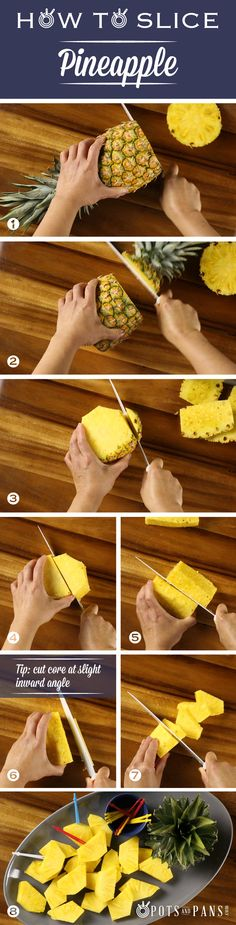 What's the best and safest way to skin, core and cut pineapple? Watch this quick tutorial to help you easily cut this juicy tropical fruit. Click on the image to watch the video.