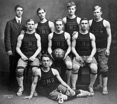 The Central High School, Philadelphia PA, basketball team for the 1911-12 season. Robert Gangwisch, is the dapper young man with the stiff collar on the left. This is sort of a companion picture to Dave's post showing the Baldwin Locomotive Works with the CHS in the background.