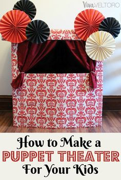 How to make a DIY Puppet Theater with things you have in your house! This is so cute and fun for kids! #StreamTeam #ad