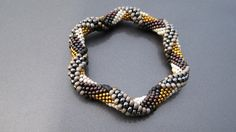 Bead Crochet Pattern Tie Dye Reverse Spiral by WearableArtEmporium, #beadwork