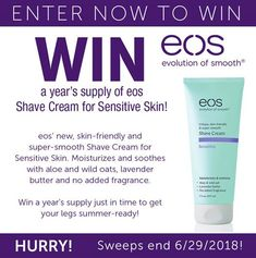 Win a year's supply of eos Shave Cream for Sensitive Skin
